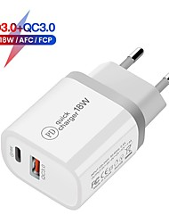 cheap -18W Fast Charger 2 Ports USB Fast Charger 18W Support Quick Charge3.0 Type-C PD Charger QC 3.0 Phone Charger For Iphone Huawei Xiaomi