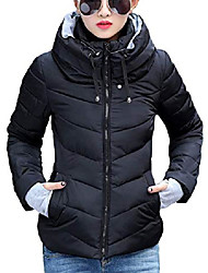 cheap -women's slim short cotton padded quilted winter puffer down jacket coat (x-small, black)