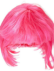 cheap -costume hot pink super model wig, hot pink, one size