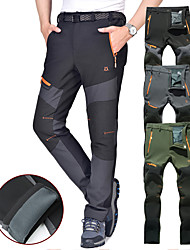 cheap -Men's Hiking Pants Trousers Softshell Pants Winter Outdoor Thermal Warm Waterproof Windproof Breathable Fleece Pants / Trousers Bottoms Dark Grey Black Army Green Light Grey Camping / Hiking Hunting