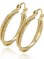 cheap -fashion 14k gold plated earring hoop three round style for anniversary