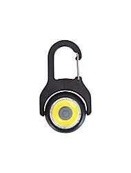cheap -karabiner cob light - aluminium mini led light black