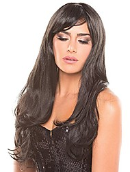 cheap -solid color burlesque wig (one size fits most, black)