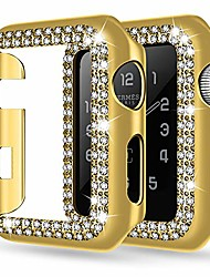 cheap -adepoy apple watch case For iWatch Apple Watch Series SE / 6/5/4/3/2/1  44 mm 40 mm 38 mm 42mm bling rhinestone apple watch protective case bumper frame screen protector case cover for iwatch series