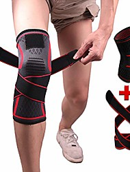 cheap -knee brace compression sleeve with strap for best support & pain relief for meniscus tear, arthritis, running, basketball, mcl, crossfit, jogging and post surgery recovery for men & women red