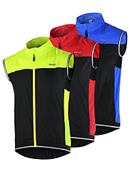 cheap -high visibility reflective vest for cycling, windproof safety jersey sleeveless | high stretchability sport windcoat men/women with 2 back pockets windbreaker for running walking climbing night riding