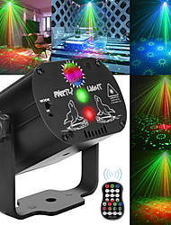 cheap -60 Patterns Laser Stage Light LED USB Charging Party RGB LED Disco Light DJ Moving Head Laser Projection Lamp Stage Lighting