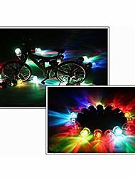 abordables -2 pièces alliage néon lampe à LED flash pneu roue bouchon de valve lumière mouvement activé néon multifonction crâne forme casquette LED sécurité lumière vélo roue lumières