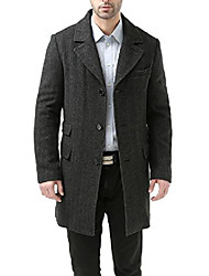 cheap -men's ace wool blend long walking coat black medium