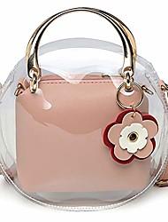 cheap -forestfish clear crossbody bag purse handbags shoulder tote bag with adjustable shoulder strap for women or grils gift (pink)