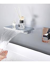 cheap -Bathroom Sink Faucet - Wall Mount / Waterfall Chrome Mount Inside Wall mountedBath Taps