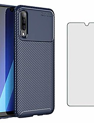 cheap -phone case for samsung galaxy a50 with tempered glass screen protector cover and cell accessories slim thin rugged tpu silicone rubber bumper glaxay a 50 gaxaly s50 50a sm a505g cases women men blue