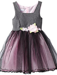 cheap -big girls' tweed empire to tulle skirt, grey, 14