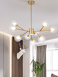 cheap -9/12/15/18 Heads LED Chandelier Nordic Gold Pendant Light Globe Desgin Flush Mount Lights Metal Painted Finishes Modern Christmas Decoration 110-120V 220-240V