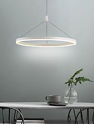cheap -1-Light 60 cm Pendant Light Metal Acrylic Circle Painted Finishes LED Modern AC100-240V