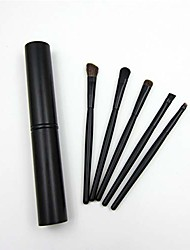 cheap -portable eye make up brush wood handle soft fiber hair eyeshadow brush eye make up tool for makeup learner