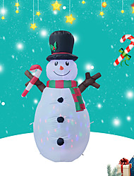 cheap -Christmas Toys Inflatable Christmas Decoration Snowman LED Lights Blow up for Party Yard Lawn Polyester Kids Adults 1.6m Christmas Party Favors Supplies