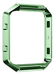cheap -replacement frame for fitbit blaze,colorful stainless steel metal watch frame for fitbit blaze smart watch (green)