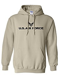 cheap -air force hooded sweatshirt in sand - xxx-large
