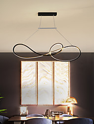 cheap -90cm LED Pendant Light Modern Nordic Geometric Black White Gold Acrylic Chandelier Adjustable Ceiling Hanging Lamp Living Room Bar Dining Room