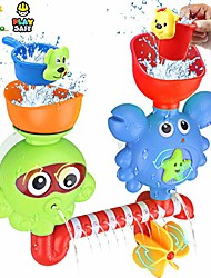 cheap -bath toys for toddlers kids babies 2 3 year old boys girls bathtub toy with 2 toy cups strong suction cups ideas color box
