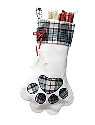 cheap -christmas stockings for your fur baby. plush, large pet christmas stockings for your dogs and cats (green)