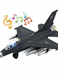 cheap -f-16 fighting falcon thunderbirds toy army air force military airplane model kit with fun lights and sounds (black)