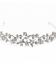 cheap -Rhinestone / Alloy Tiaras with Crystals / Rhinestones 1 Piece Wedding Headpiece