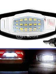 cheap -2pcs ABS 18 LED 12V Car License Plate Lights For Honda Civic Accord Civic Odyssey  Car Number Lamp