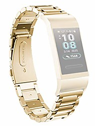 cheap -universal metal wristband replacement strap for huawei 3 / 3pro smart watch secure sturdy and durable moderate softness comfortable (gold)