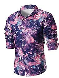cheap -Men's Shirt 3D Print Florals Long Sleeve Dailywear Tops Photo Color