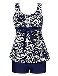 cheap -women's cover up swimsuit tankini beachwear navy porcelain 12/14 tag16/18