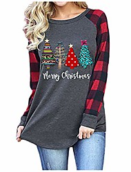 cheap -it's the most wonderful time of the year t-shirt womens christmas shirt funny plaid christmas tree tee tops