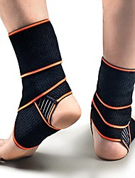 cheap -2 pc ankle brace, adjustable ankle support super elastic and comfortable compression ideal for sports,protects against chronic ankle strain,sprains fatigue men&women (1 pair-orange)
