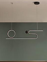 cheap -80cm LED Pendant Light Modern Nordic Geometric Black Gold Personalized Living Room Dining Room Bar Coffee Shop
