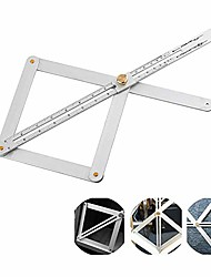 cheap -aluminum alloy bevel&corner protractor|corner angle finder for carpentry tools|angle measurement ruler for woodworking tools and accessories. (2)