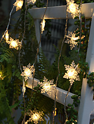 cheap -1.5M 10LEDs New LED Snowflake String Lights AA Battery Powered Fairy Lights Christmas Wedding Party Decoration Light