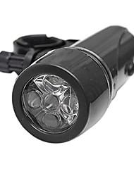 cheap -bicycle light cycle zone waterproof 5 led bicycle light bike headlight safety flashlight (black)