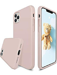 cheap -liquid silicone case compatible with iphone 12 pro max 6.7 inch, full body protection gel rubber cover with microfiber lining, shockproof protective phone case, pink sand