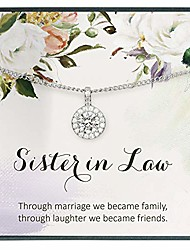 cheap -sister in law gifts for sister in law birthday gifts for sister of the bride gifts for sister of the groom gifts from sister in law to the bride gifts cz diamond necklace