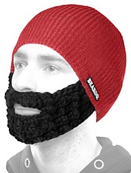 cheap -hat with attached black beard, red, one size