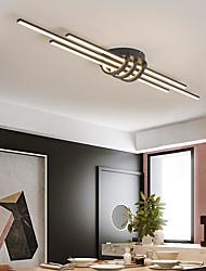 cheap -80cm LED Ceiling Light Modern Geometric Design Black White Minimalist Flush Mount Lights Aluminum Painted Finishes 110-120V 220-240V