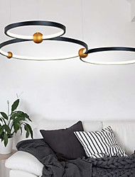cheap -1-Light 75 cm Creative Adjustable Chandelier Aluminum Circle Geometrical Painted Finishes LED Modern 110-120V 220-240V