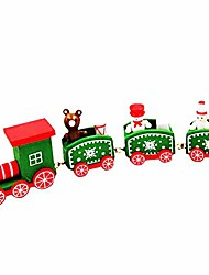 cheap -mini christmas wooden train ornament - winter room wood crafts - christmas toy gift for child - holiday xmas decorations sets for desk, table, christmas trees