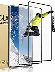 cheap -2 in 1 Samsung Galaxy S20 fe S20 ultra screen protector, 9h tempered glass with camera lens protector, 3d curved full coverage fingerprint HD glass film for samsung galaxy s20 fe 5g S10 Plus
