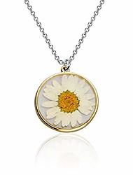 cheap -pressed flower teardrop earrings natural dried flower jewelry hook drop dangle earrings for women (flower necklace)