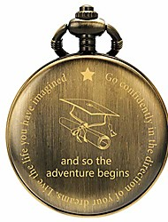 cheap -graduation s for him - pocket watch - engraved 'and so the adventure begins' – perfect college/high school graduation or for son | him | for classmates bronze
