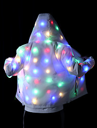 cheap -Jacket Glowing Womens Mens Hoodies Coat with LED Luminous for Party Bar DJ Stage Costume Dancing Clothing Washable Plus Size