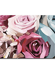 cheap -Mintura Large Size Hand Painted Flowers Oil Paintings on Canvas Modern Abstract Wall Art Pictures For Home Decoration No Framed