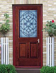 cheap -Glass Wooden Door Self-adhesive Creative Door Stickers Living Room DIY Decorative Home Waterproof Wall Stickers